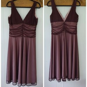 JS Boutique Beaded Brown Formal Dress